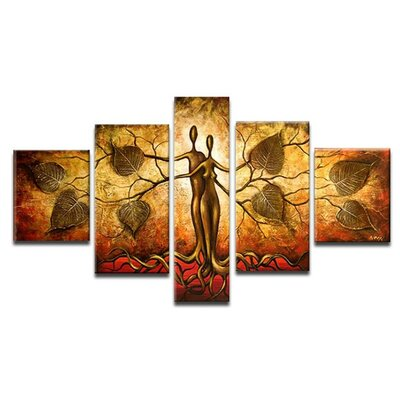Abstract Man and Nature 5 Piece Painting on Canvas Set BLMT7000 42511673