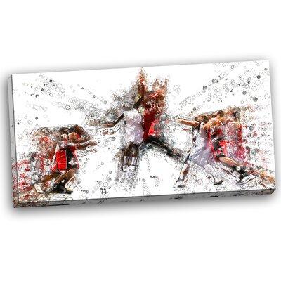 Basketball Jump Shot Graphic Art on Wrapped Canvas PT2547-32-16
