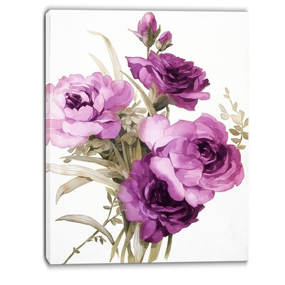 Bunch of Flowers Painting Print on Wrapped Canvas Size: 40
