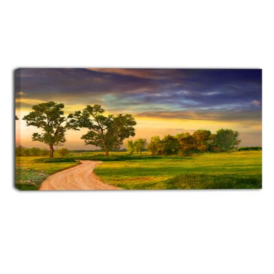 Road to Bliss Landscape Painting Print on Wrapped Canvas Size: 16