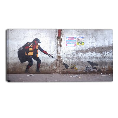 Spiderman in Dharavi Slum Street Graphic Art on Wrapped Canvas PT6657-40-20