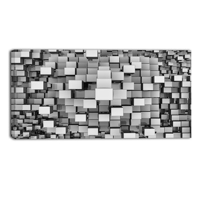 Cubes Contemporary by Designart Graphic Art on Wrapped Canvas Size: 20