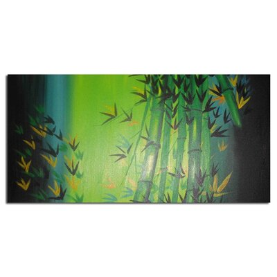 Bamboo Abstract Painting on Canvas OL702s