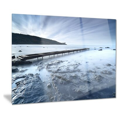 Metal 'Wooden Pier Deep into Sea' Photographic Print Size: 30
