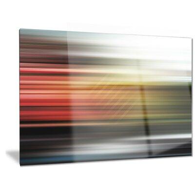 Metal 'Horizontal Lights' Graphic Art MT6844-28-12