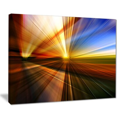 'Rays of Speed Reflection' Graphic Art on Wrapped Canvas PT8128-40-30