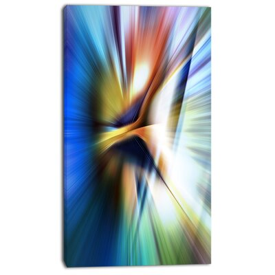 'Rays of Speed Centre' Graphic Art on Wrapped Canvas PT8135-12-20