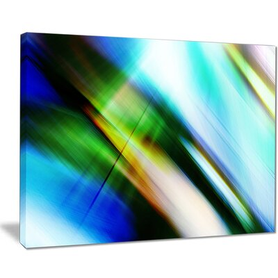 'Rays of Speed' Graphic Art on Wrapped Canvas in Blue/Green PT8136-40-30