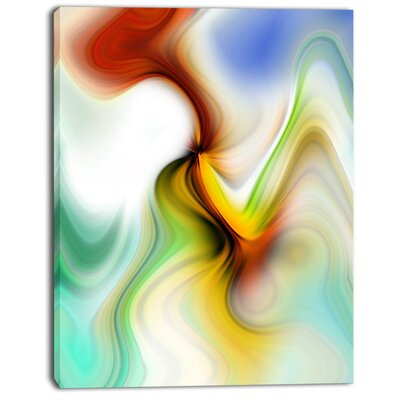'Rays of Speed Curved' Graphic Art on Wrapped Canvas PT8132-30-40