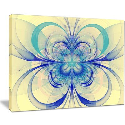 'Blue Fractal Flower Pattern' Graphic Art on Wrapped Canvas PT8711-40-30