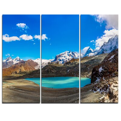 Image of Alps Mountain Fountain Graphic Art on Wrapped Canvas