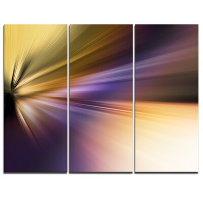 Rays of Speed Purple Brown - 3 Piece Graphic Art on Wrapped Canvas Set PT8137-3P