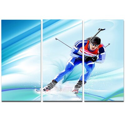 Extreme Skier - 3 Piece Graphic Art on Wrapped Canvas Set PT8431-3P