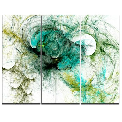 Fractal Digital Paint Pattern Graphic Art on Wrapped Canvas PT8649-3P