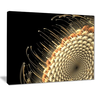 'Brown Fractal Flower Pattern' Graphic Art on Wrapped Canvas PT8063-40-30