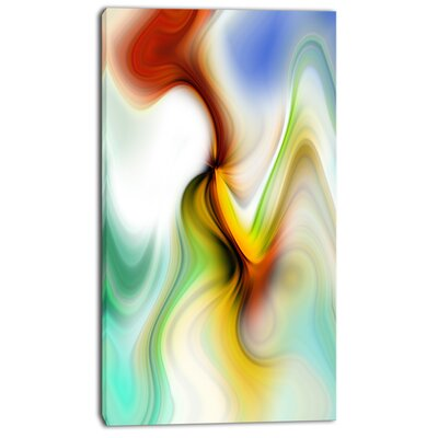 'Rays of Speed Curved' Graphic Art on Wrapped Canvas PT8132-16-32