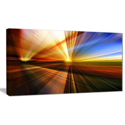 'Rays of Speed Reflection' Graphic Art on Wrapped Canvas PT8128-12-8
