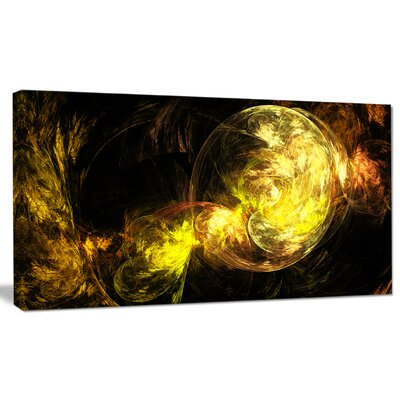 """'Colored Smoke Golden' Graphic Art on Wrapped Canvas Size: 20"""" H x 40"""" W x 1"""" D PT8045-40-20"""