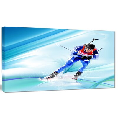 'Extreme Male Skier' Graphic Art on Wrapped Canvas PT8431-20-12