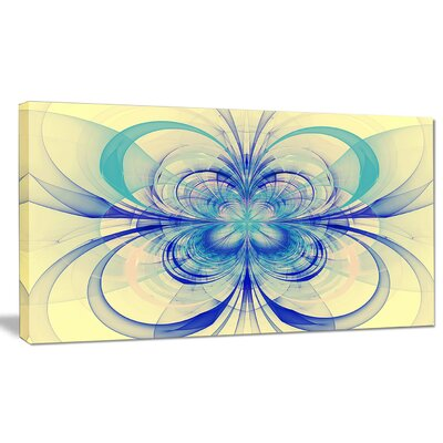 'Blue Fractal Flower Pattern' Graphic Art on Wrapped Canvas PT8711-20-12
