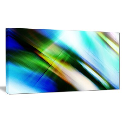 'Rays of Speed' Graphic Art on Wrapped Canvas in Blue/Green PT8136-40-20