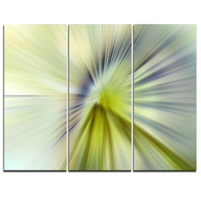 Rays of Speed Green Purple - 3 Piece Graphic Art on Wrapped Canvas Set PT8141-3P