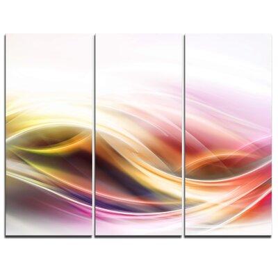 Elegant Light Colour Pattern - 3 Piece Graphic Art on Wrapped Canvas Set PT8214-3P