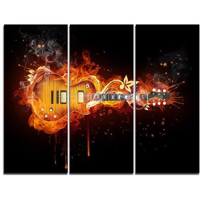 Electric Guitar - 3 Piece Graphic Art on Wrapped Canvas Set PT7150-3P