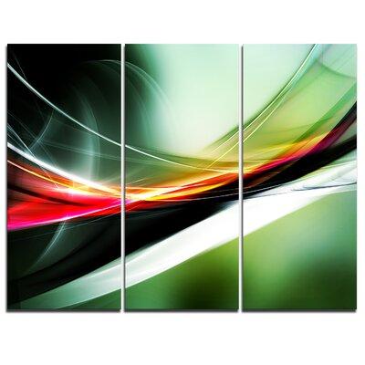 Elegant Colour Pattern - 3 Piece Graphic Art on Wrapped Canvas Set PT7700-3P