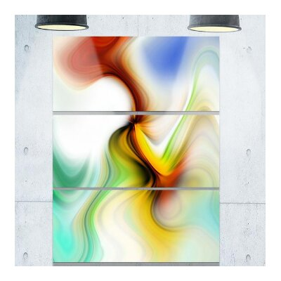 Rays of Speed Curved Graphic Art on Wrapped Canvas PT8132-3PV
