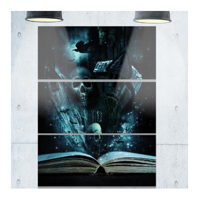 Halloween Storeys Book - 3 Piece Graphic Art on Wrapped Canvas Set PT6728-3PV