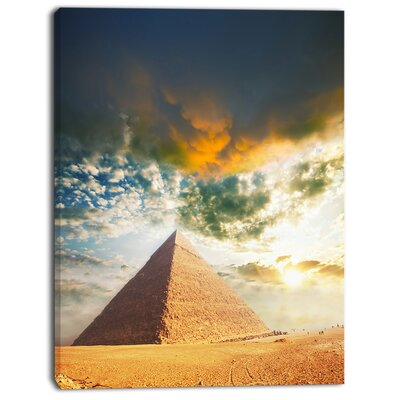 'Egyptian Pyramid under Cloudy Skies' Photographic Print on Wrapped Canvas PT13481-30-40