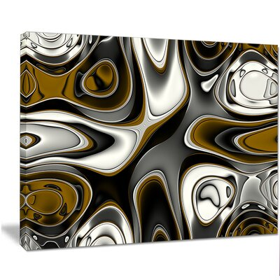 'Fantastic Fractal Abstract Pattern' Graphic Art on Wrapped Canvas PT14474-40-30