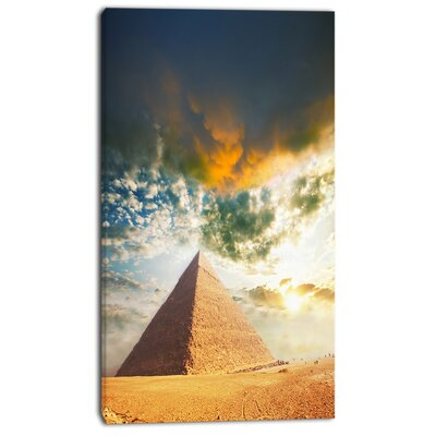 'Egyptian Pyramid under Cloudy Skies' Photographic Print on Wrapped Canvas PT13481-12-20