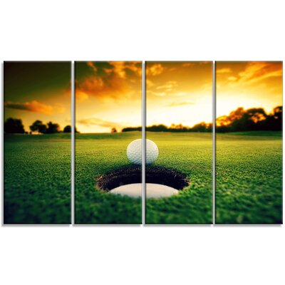 'Golf Ball Near Hole' 4 Piece Photographic Print on Wrapped Canvas Set PT14848-271