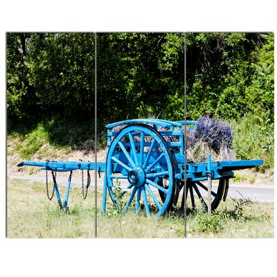 'Cart with Lavender in France' 3 Piece Photographic Print on Wrapped Canvas Set PT13074-3P