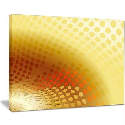 "'Golden Fractal Abstract Pattern' Graphic Art on Wrapped Canvas Size: 12"" H x 20"" W PT14902-20-12"