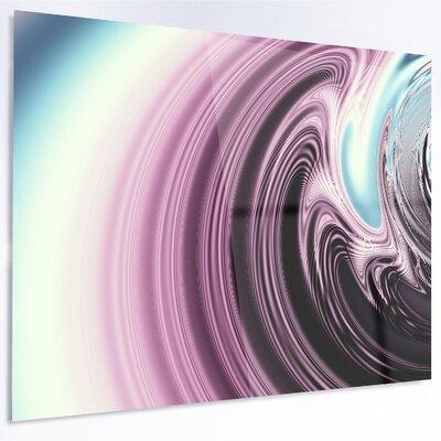 'Unique Purple Fractal Art Pattern' Graphic Art on Metal MT14471-28-12