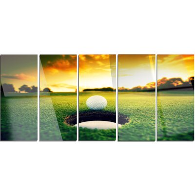 'Golf Ball Near Hole' 5 Piece Photographic Print on Canvas Set MT14848-401