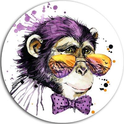 'Cool Monkey' Painting Print on Metal MT6037-C38