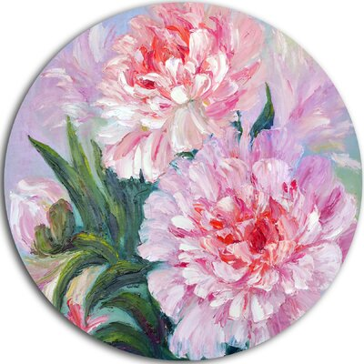'Full Blown Peonies' Painting Print on Metal MT6173-C11
