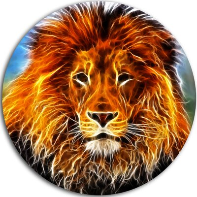 'Drawing of the King of Jungle' Graphic Art Print on Metal MT7181-C11