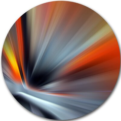 'Rays of Speed Lines' Graphic Art Print on Metal MT8129-C23