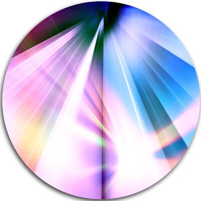 'Rays of Speed Blue' Graphic Art Print on Metal MT8131-C38