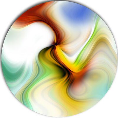 'Rays of Speed Curved' Graphic Art Print on Metal MT8132-C23
