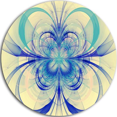 'Blue Fractal Flower Pattern' Graphic Art Print on Metal MT8711-C11