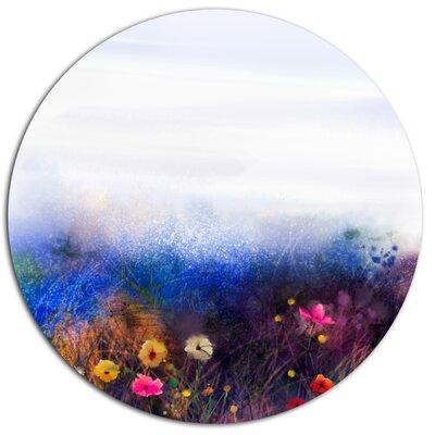 'Watercolor Painting Flower in Meadow' Watercolor Painting Print on Metal MT14092-C11