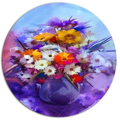 'Watercolor Flowers in Purple Vase' Painting Print MT14110-C11