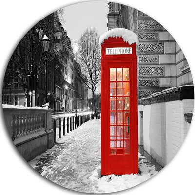 'Red London Telephone Booth' Photographic Print on Metal MT10178-C11
