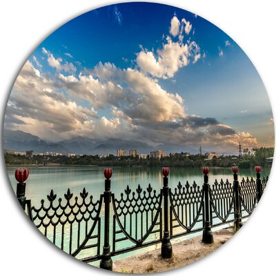 'City Lake Under Clouds' Photographic Print on Metal MT9123-C11